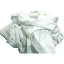 Coastal Wipers SWK-05 - Wiping Rags, White T-Shirt Material, Soft and Absorbent