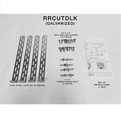 Miami Tech RRCUTDLK - Rheem/Ruud Condenser Unit Tie Down, Galvanized, Slab Mount, Large Kit (In-land Installation)