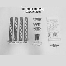 Miami Tech RRCUTDSMK - Rheem/Ruud Condenser Unit Tie Down, Galvanized, Slab Mount, Small/Medium Kit (In-land Installation)