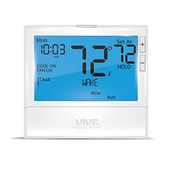 VIVE TP-S-855CRH - 5+1+1, 7 Day Or Non-Programmable, 5H/3C Universal With 8 Sq. In. Display