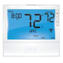 VIVE TP-S-855ICRH - Wi-Fi Enabled, 5+1+1, 7 Day 0 Day Programmable, 5H/3C Universal T-Stat, With 8 Sq. In. Display